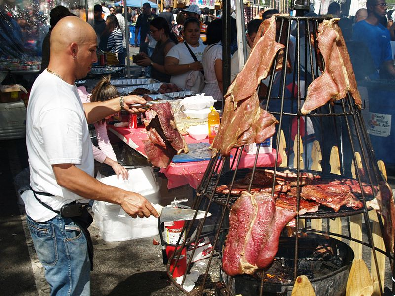 File:Hanging Meat at a Street Fair 2.JPG